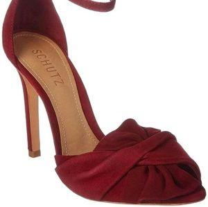 SCHUTZ Burgundy Natally Sandals